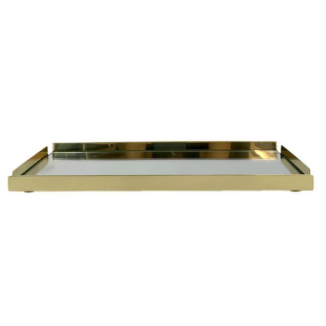 Bandeja Dourada Shefield Plate
