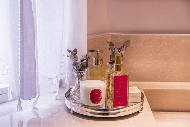 Bandeja Redonda Pérola com espelho 26cm