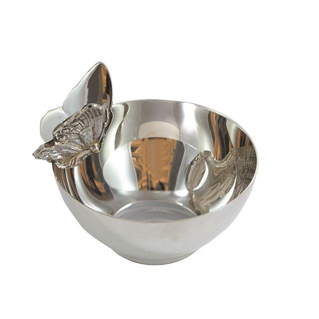 Bowl Borboleta em Prata Shefield Plate