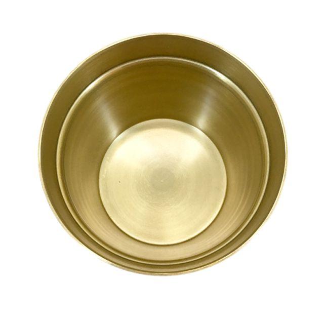 Cachepot em Alumínio Gold M