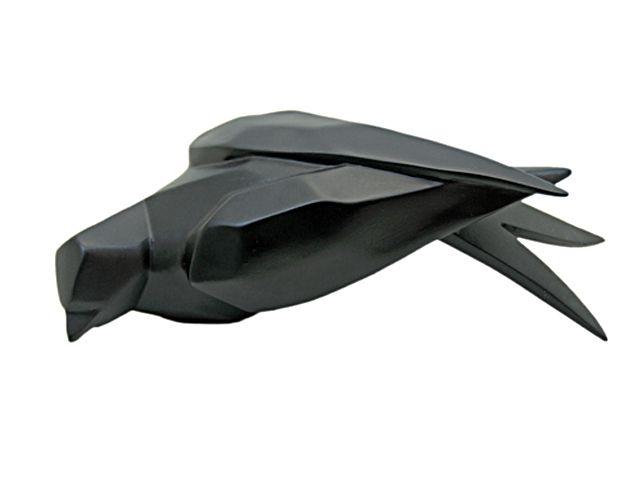 Escultura Pássaro na Prateleira Preto