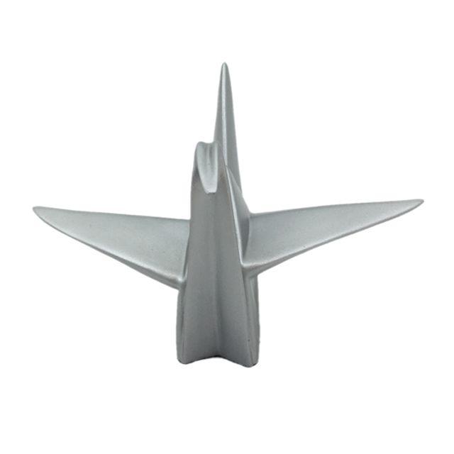 Escultura Pássaro Origami Prata