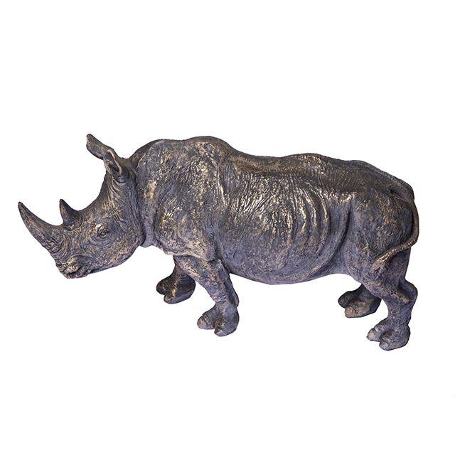 Figura Decorativa De Resina - Rhino