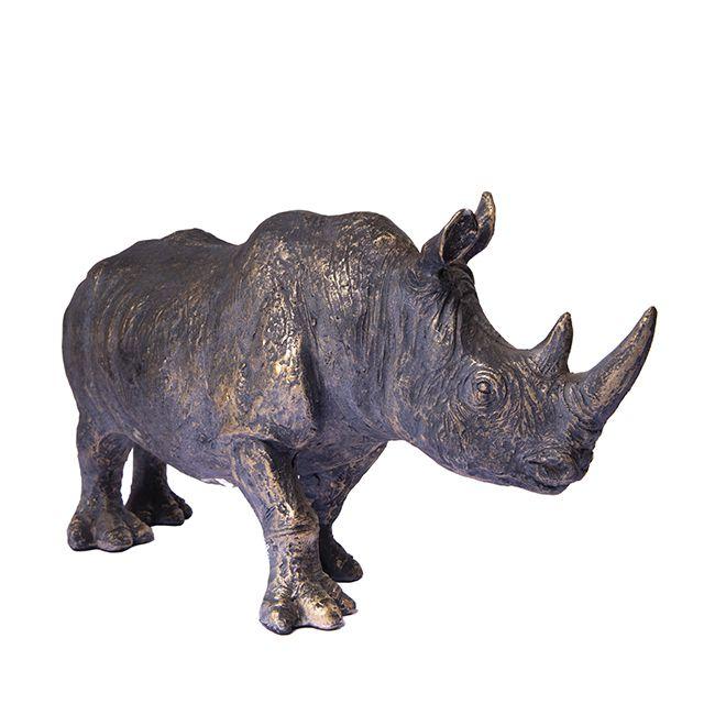 Figura Decorativa de Resina Rhino