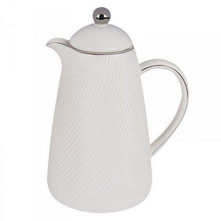 Garrafa Térmica Em Porcelana Branca
