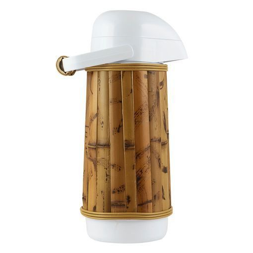 Garrafa Térmica Revestida Em Bambu