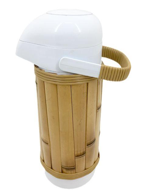 Garrafa Térmica Revestida Em Bambu Natural