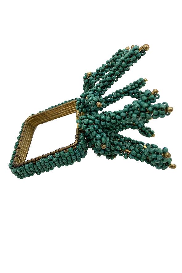 Jogo 4 Porta Guardanapos Coral Verde