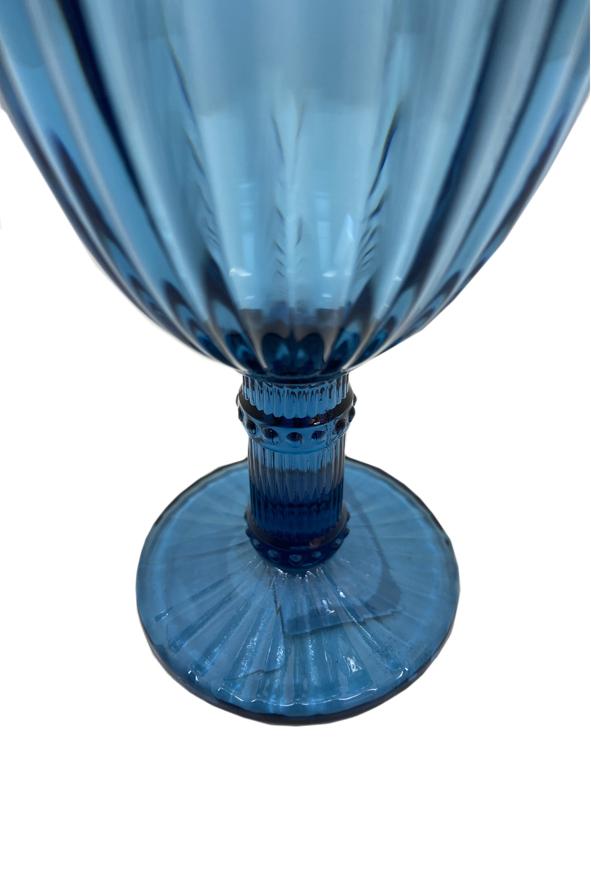 Jogo 6 Taças de Vidro Azul