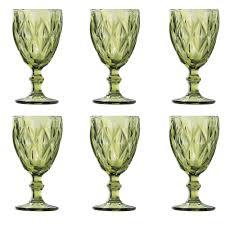 Jogo 6 Taças Diamond Verde