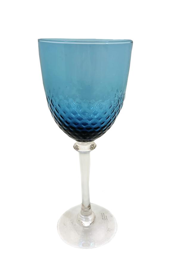 Jogo 6 Taças  Vidro Azul