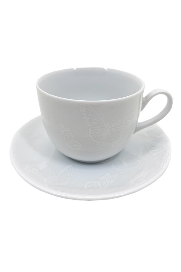 Jogo 6 Xícaras de Chá Borboletas