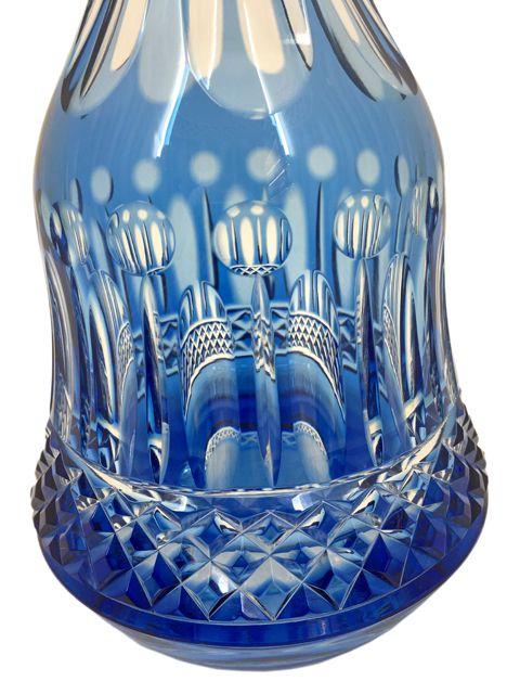 Licoreira em Cristal Lapidado Azul