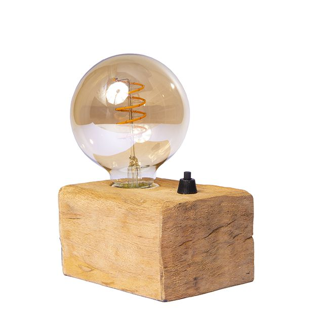 Luminária Base Madeira Mini