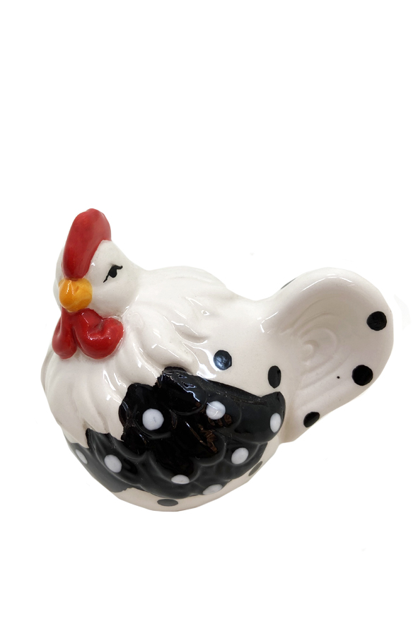 Mini Galinha Decorativa em Cerâmica