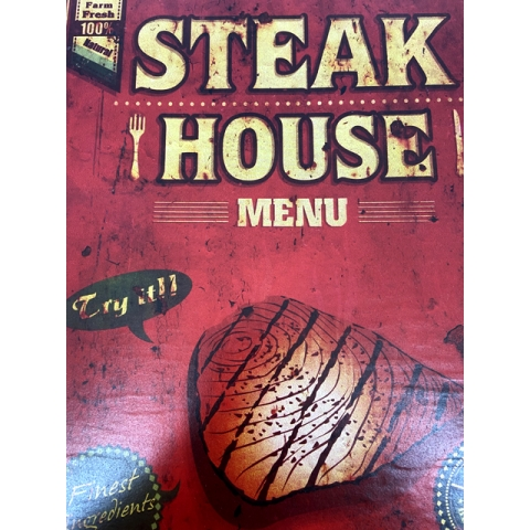 Placa Decorativa Steak
