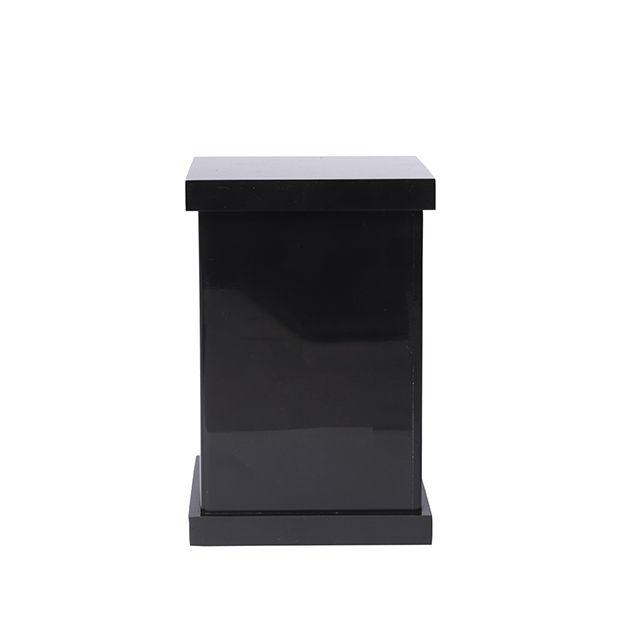 Porta Cotonete Decor em Acrílico Preto