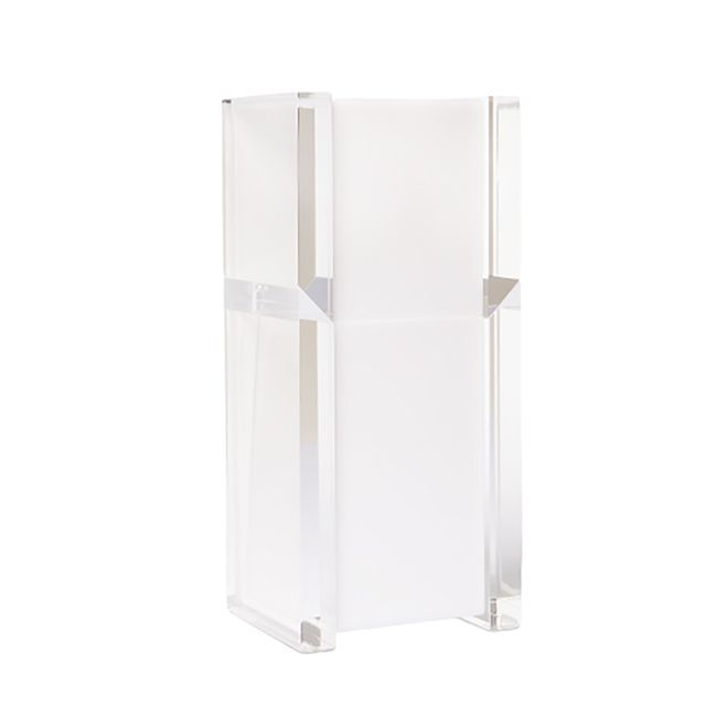Porta Escova Classic em Acrílico Branco