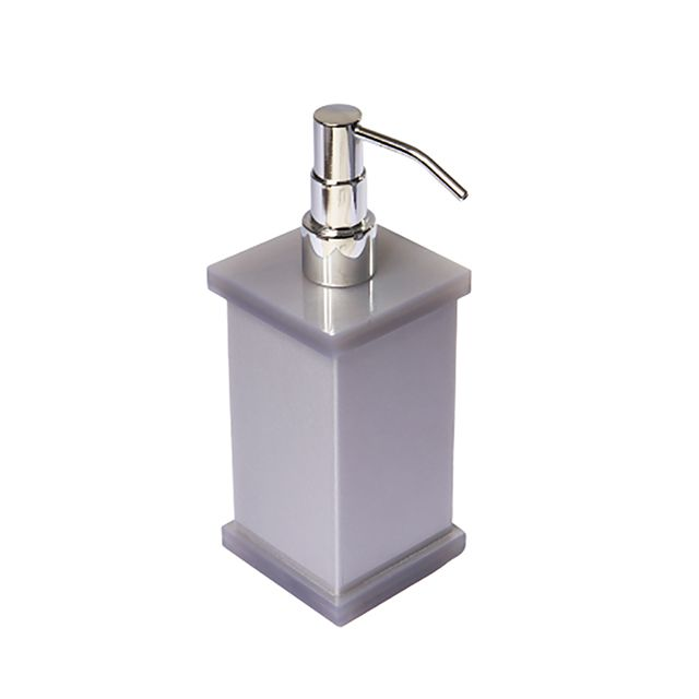 Porta Sabonete Liquido em Acrílico Cinza