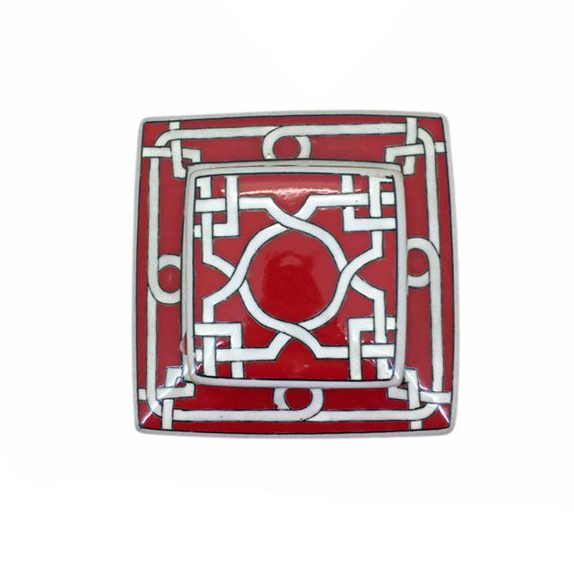 Pote Decorativo Vermelho e Branco