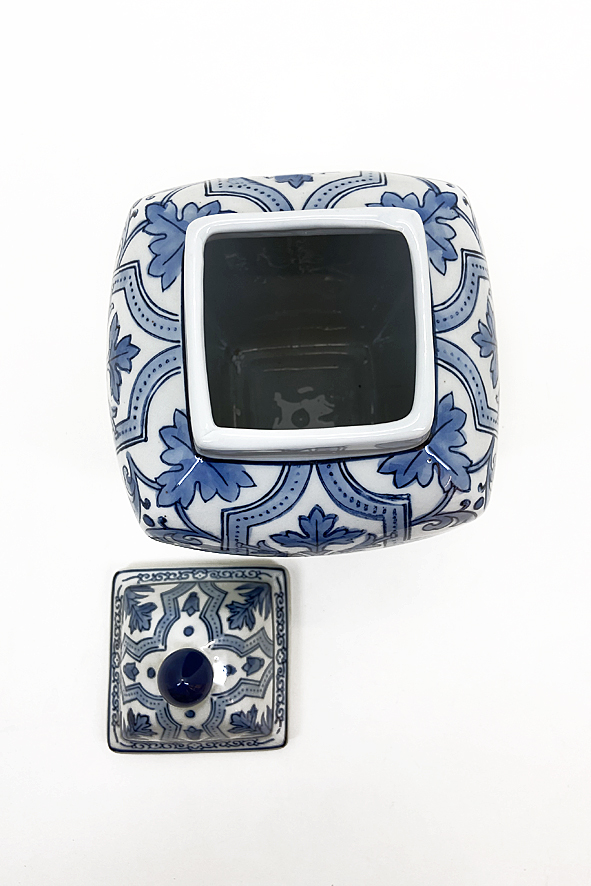 Pote Decorativo com Tampa em Cerâmica