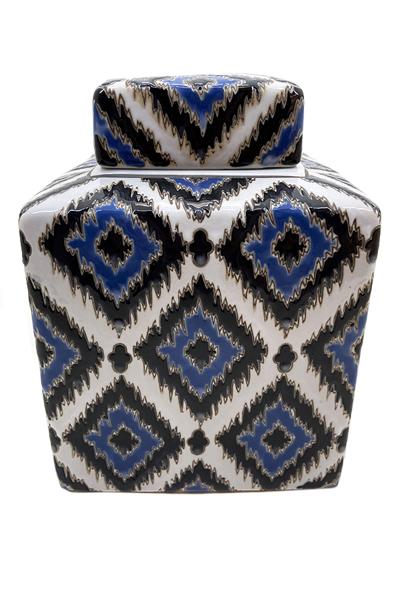 Pote Decorativo em Cerâmica Com Tampa