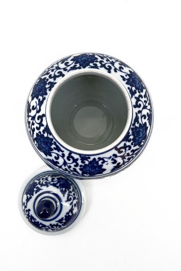 Pote Decorativo em Porcelana com Tampa