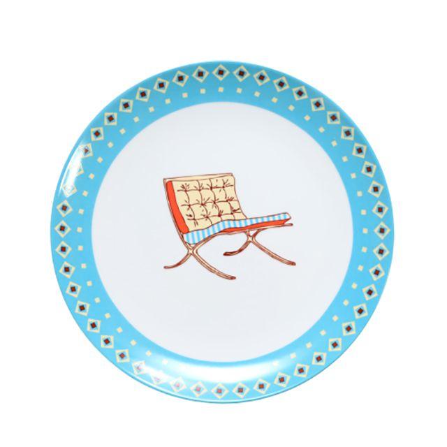 Prato em Porcelana modelo Chairs 24cm
