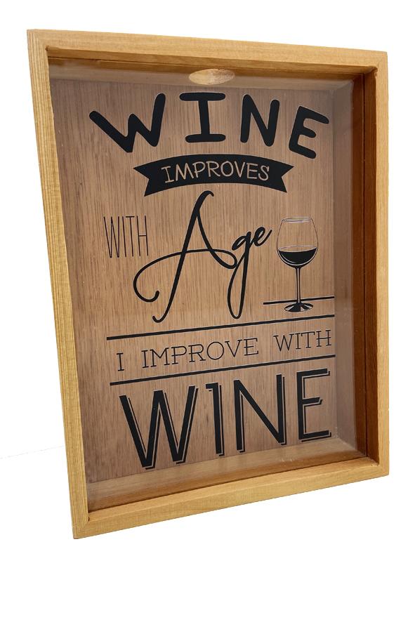 Quadro para Rolhas Wine