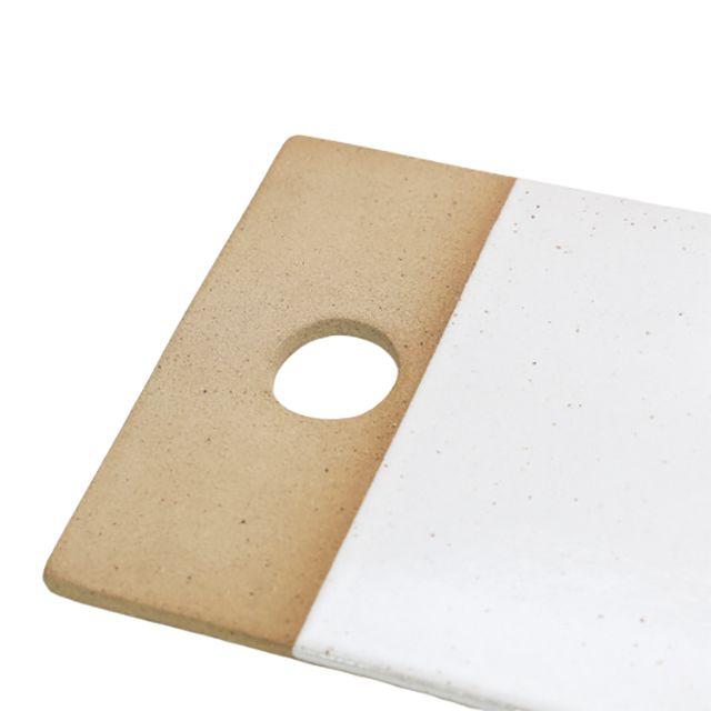 Tábua de cerâmica retangular