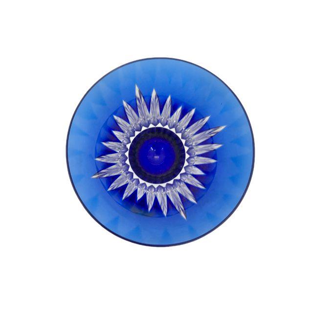 Taça de Cristal Azul para Água