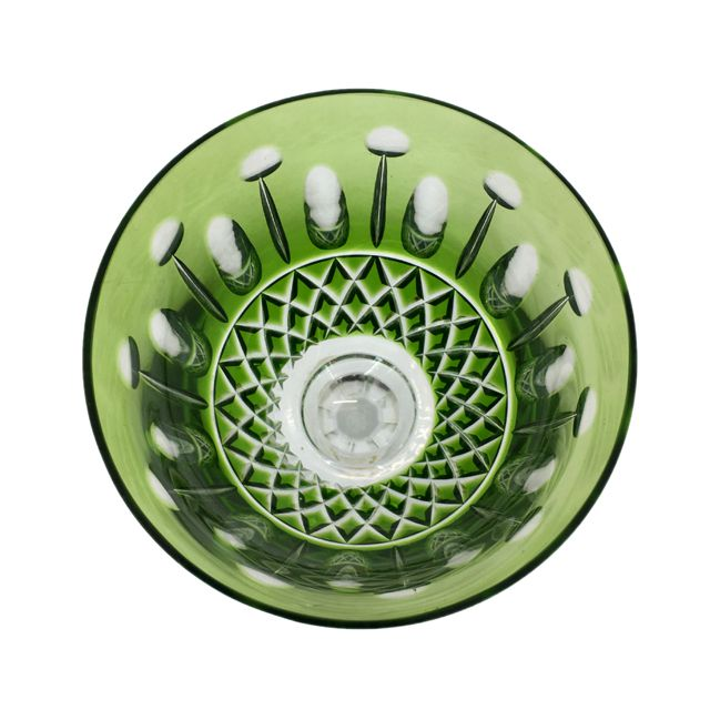 Taça de Cristal Verde para Água