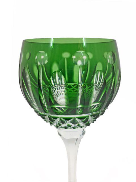 Taça de Cristal Verde para Vinho Branco