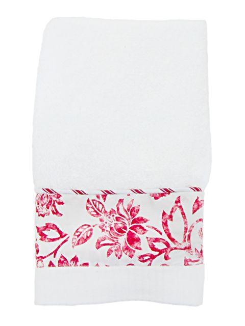 Toalha Lavabo Floral | Blue Gardênia