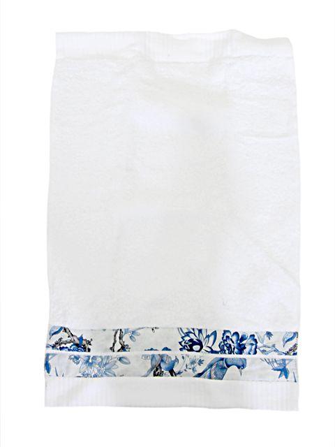 Toalha Lavabo Floral Azul | Blue Gardênia