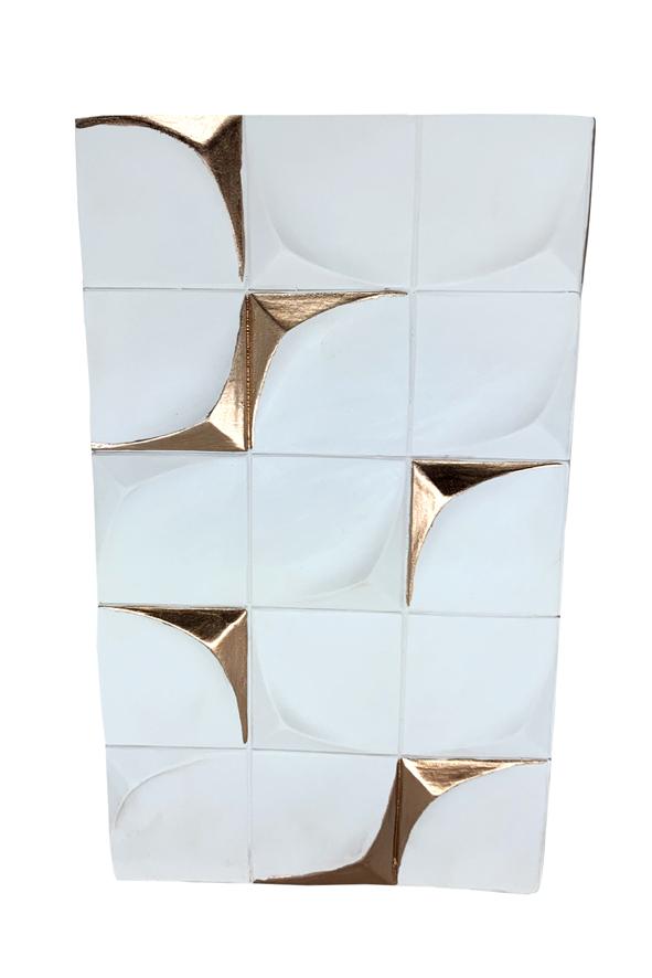 Vaso Geométrico de Resina Pequeno