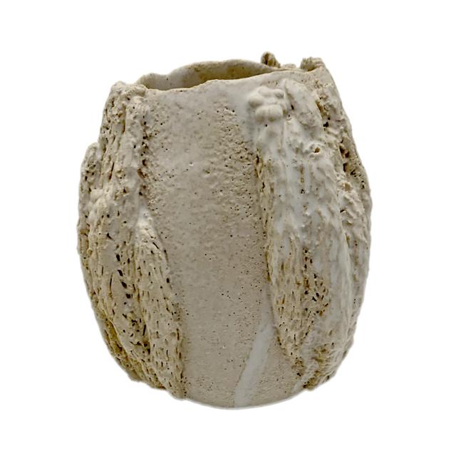 Vaso Decorativo Cerâmica Coral  Luciana Cravo