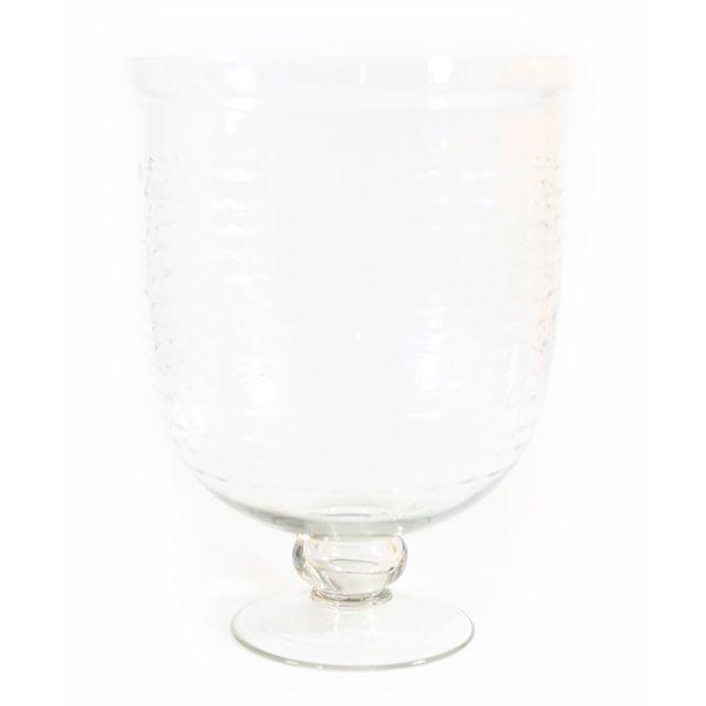 Vaso em Vidro Transparente Lapidado