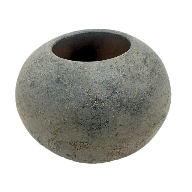 Vaso Terracota cor Cinza M
