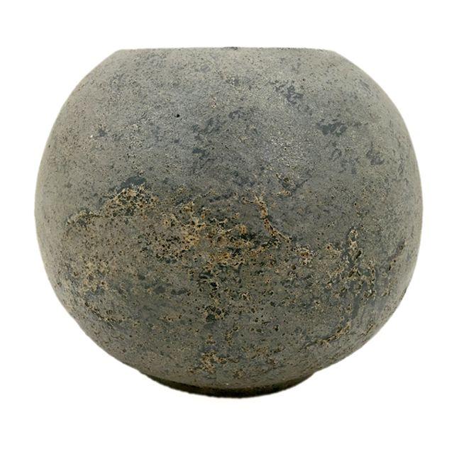 Vaso Terracota na cor Cinza G