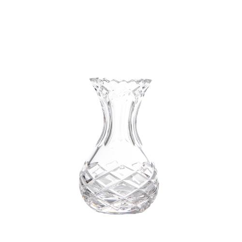 Vaso Transparente em Vidro Lapidado