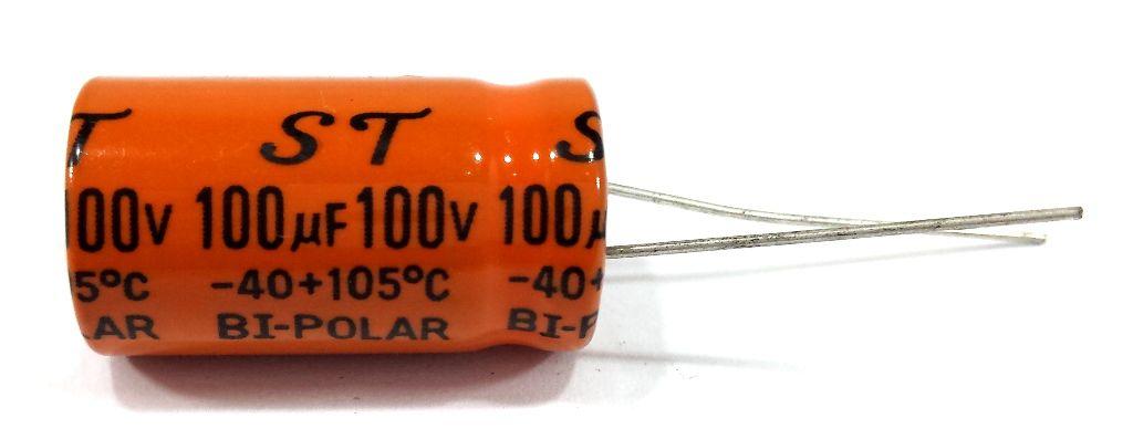 100 Capacitor Bipolar 100X100 100uf 100v para Alto Falante