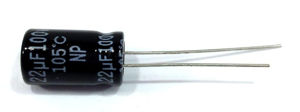 100 Capacitor Bipolar 22X100 - 22uf 100v para Driver Corneta