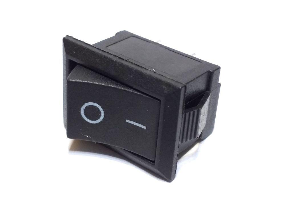 100 Chave Tic Tac KDC Preta On/Off 2 Pos 2 Terminai KCD1-101