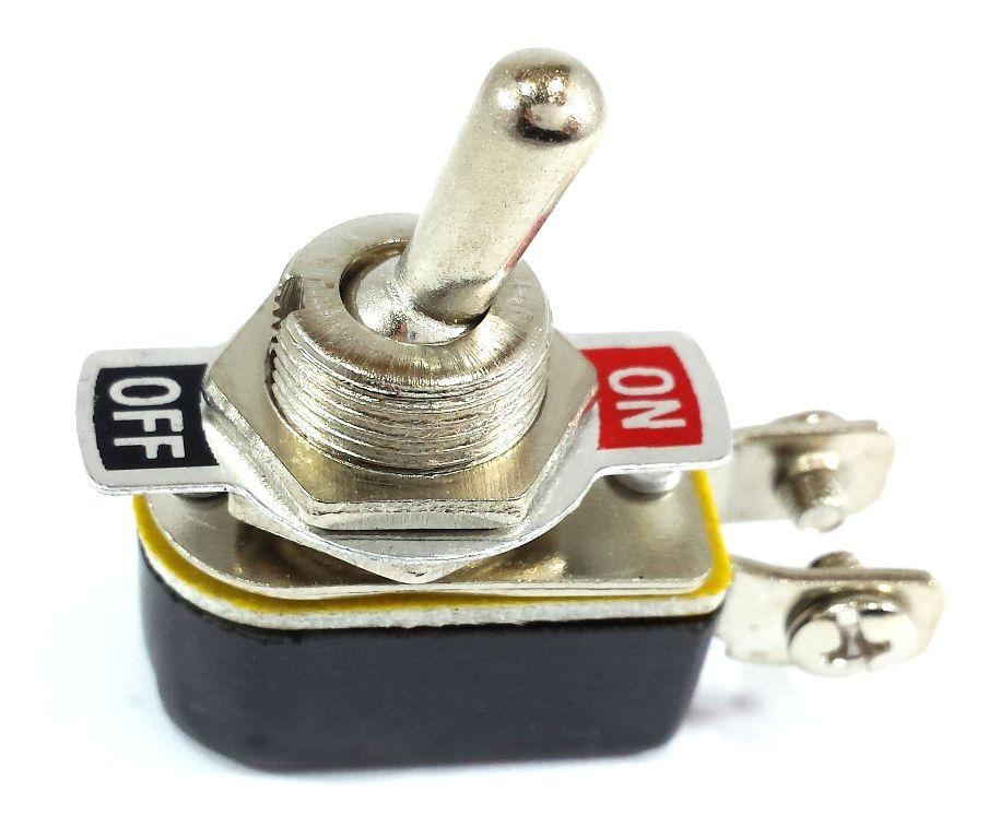 100 Chave Tic Tac Metal On/Off 2 Posições 2 Terminais KNH-1S