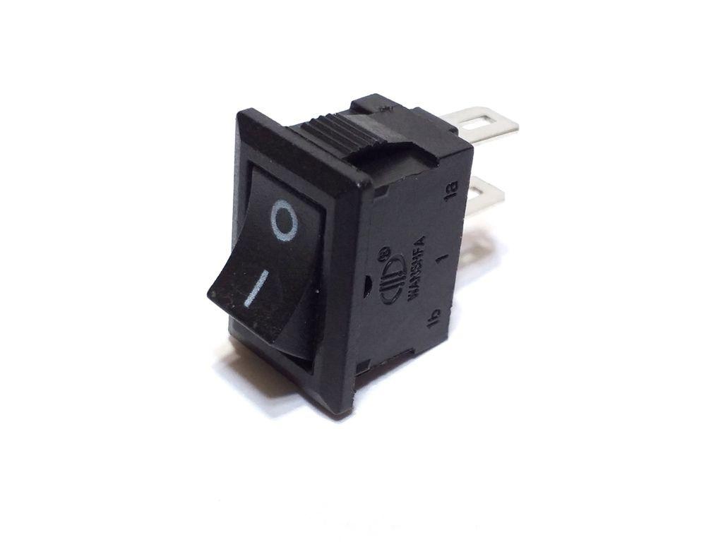 100 Chave Tic Tac mini KDC Preta On/Off 2Pos 2Term KCD5-101N