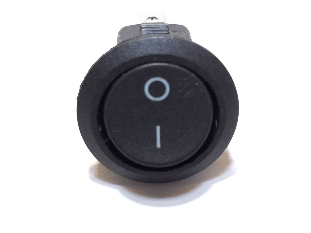 100 Chave Tic Tac Redonda Preta On/Off 2 Posições 2 Terminai
