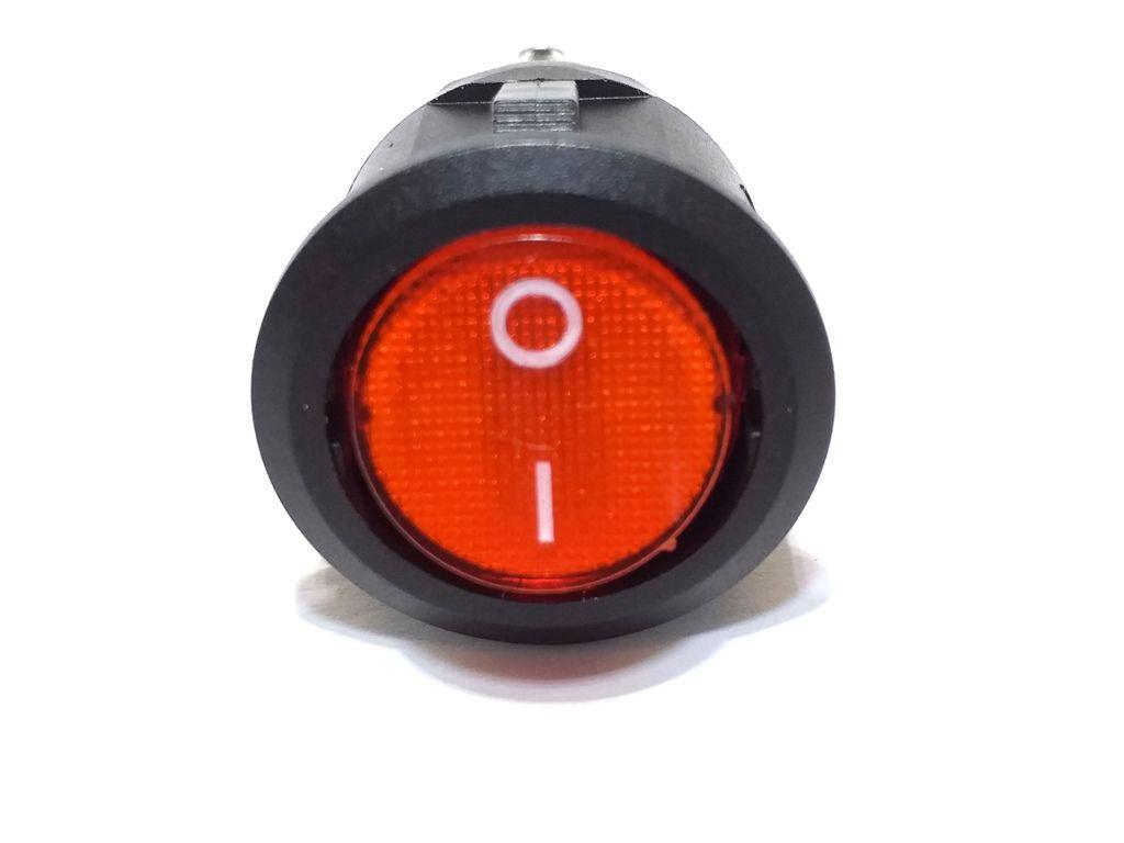 100 Chave Tic Tac Redonda Vermelha On/Off 2P 3Term KCD1-106N