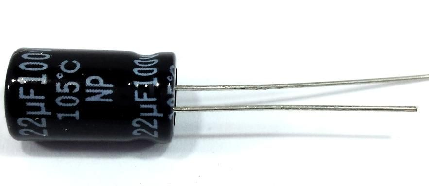 10 Capacitor Bipolar 22X100 - 22uf 100v para Driver Corneta