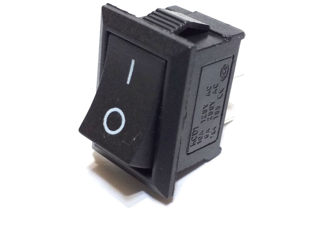 10 Chave Tic Tac KDC Preta On/Off 2 Pos 2 Terminais KCD1-101
